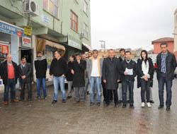 Midyat'ta, BDP'liler Gözaltıları Protesto Etti