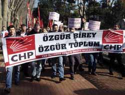 CHP'li gençlerden 'dindar nesil' protestosu
