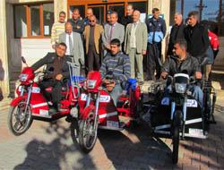 Engelli vatandaşlara motor desteği