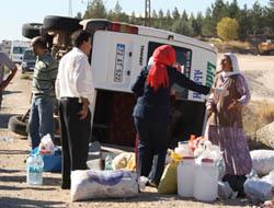 Midyat'ta Minibüs Devrildi: 7 Yaralı