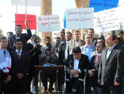 Midyat'ta İsrail Protesto Edildi