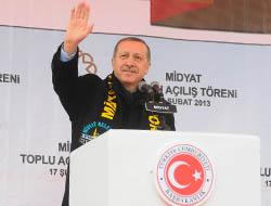 Başbakan Erdoğan'a, Midyat'ta Coşkulu Karşılama